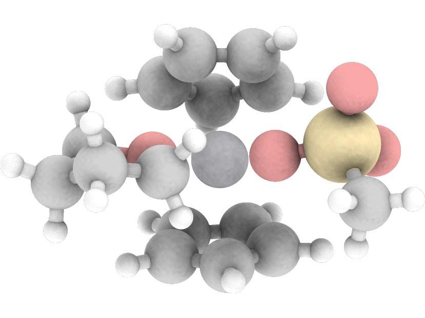 Computergenerierte Struktur des Katalysator-Komplexes