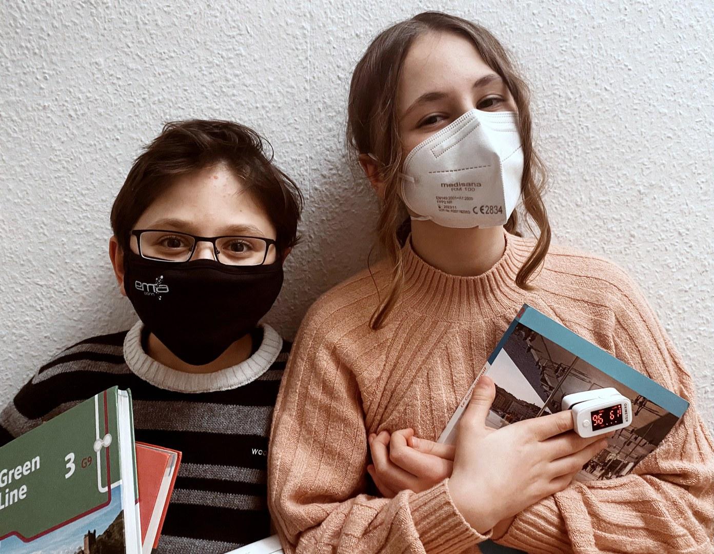 Leona Gemmel (14) und Jonathan Gemmel (12)