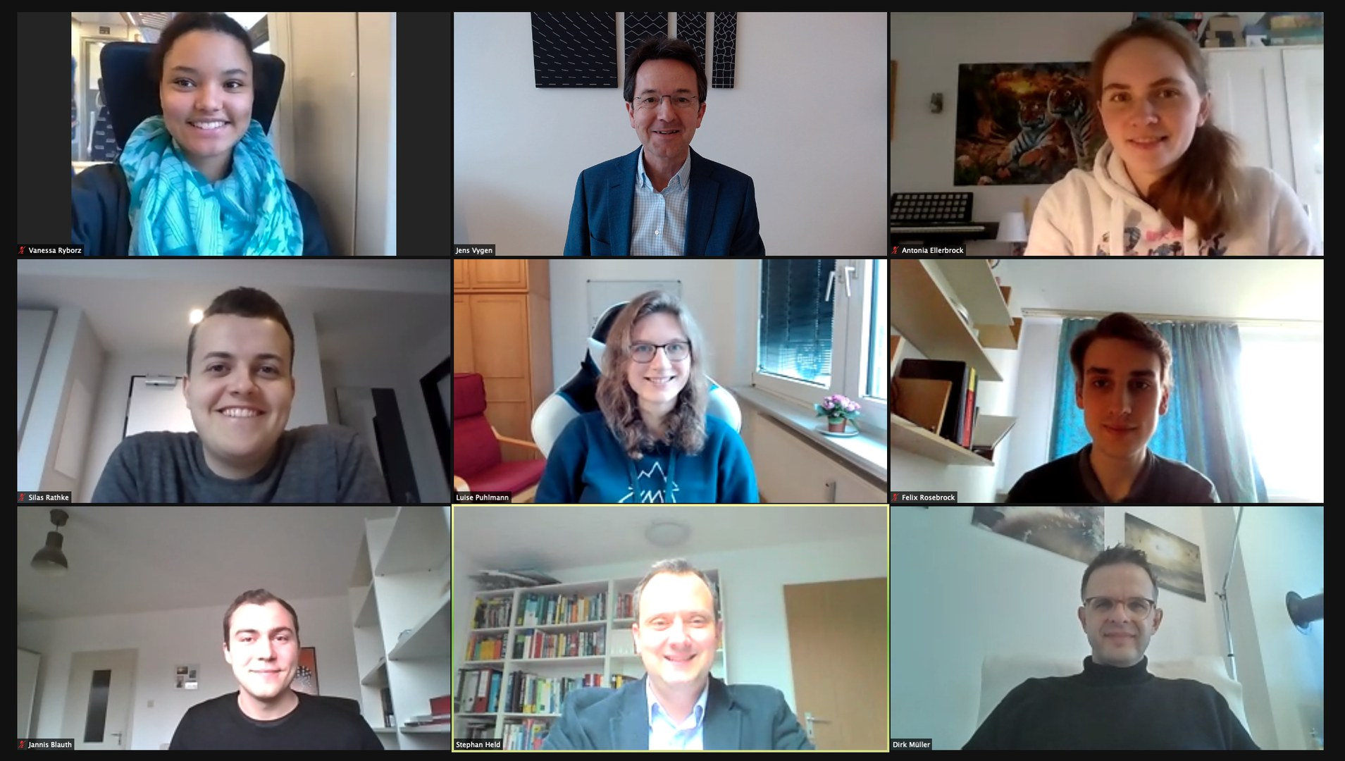Das Tourenplanungs-Team am Forschungsinstitut für Diskrete Mathematik: