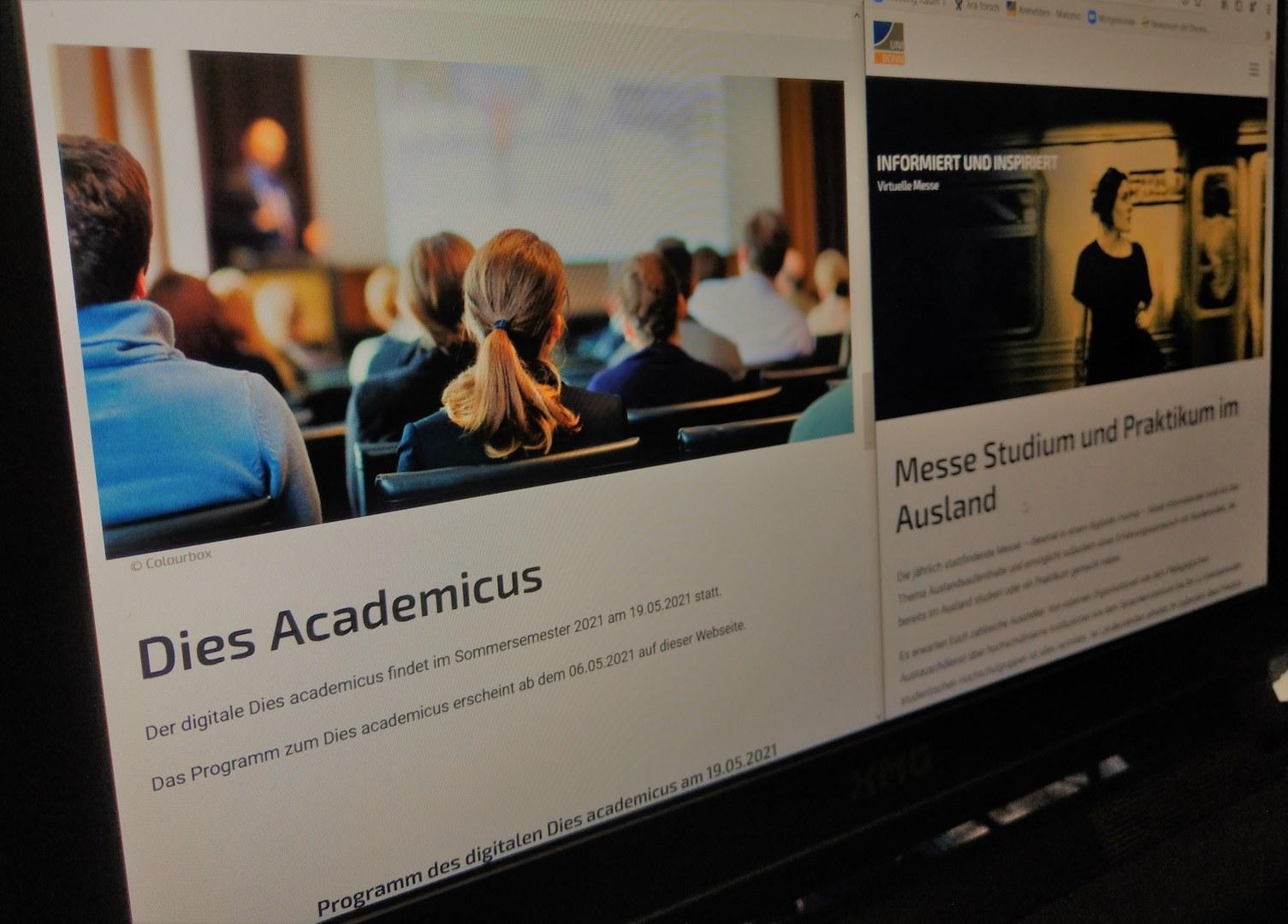 Am 19. Mai können sich Interessierte beim Dies Academicus und der Messe Studium und Praktikum im Ausland digital informieren.