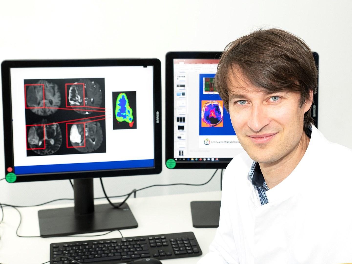 Spezialist forscht zu Künstlicher Intelligenz (KI) in der diagnostischen Radiologie: