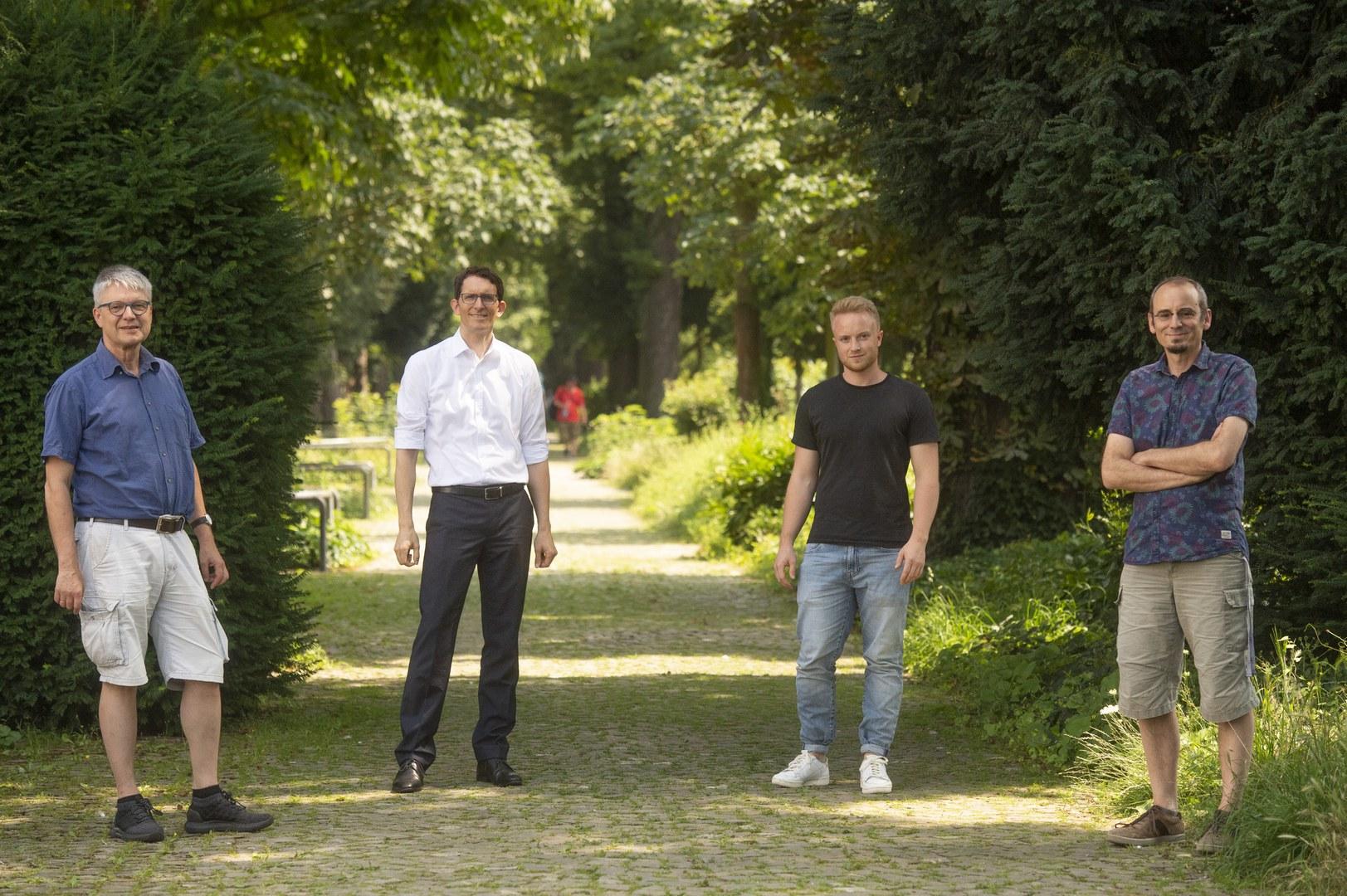 Das Team der an der Etablierung des Experiments beteiligten Wissenschaftler