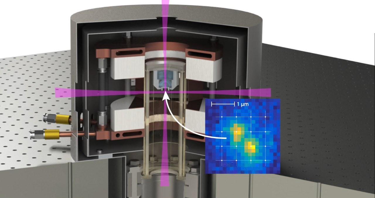 Abbildung der experimentellen Apparatur