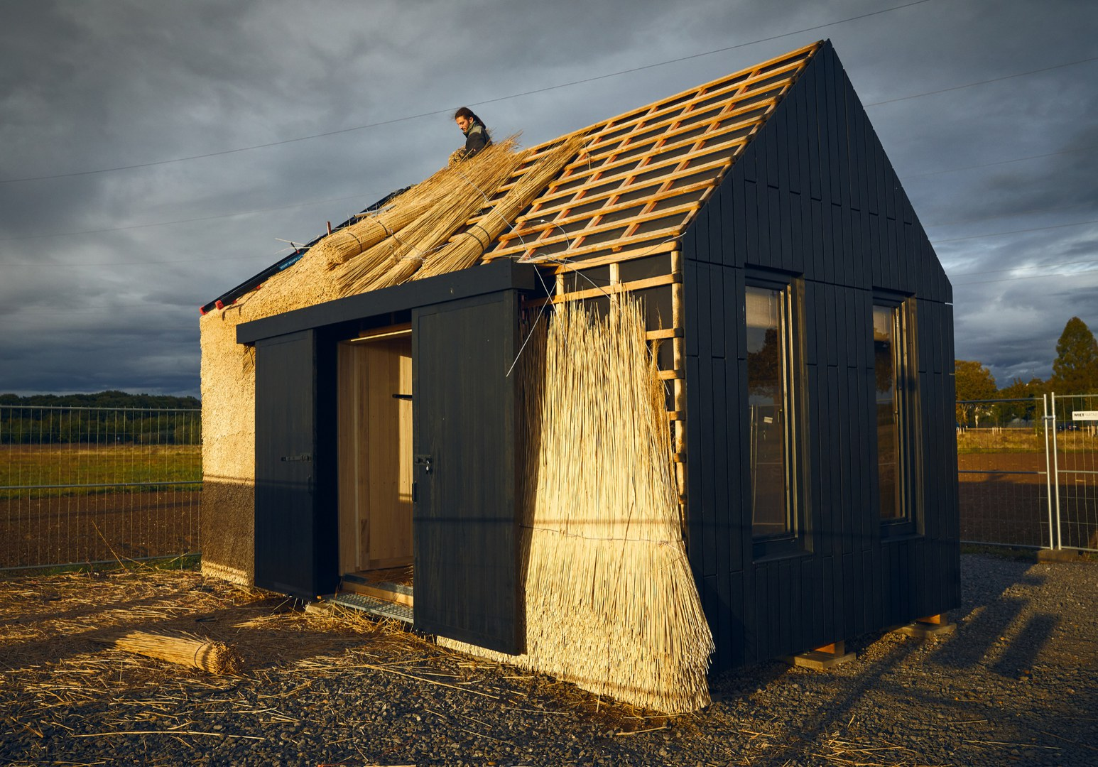 Ein kleines Haus aus nachwachsenden Rohstoffen
