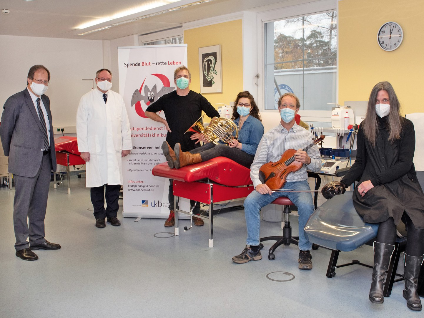 Musiker des Beethoven Orchester Bonn initiieren private Blutspende-Aktion am Universitätsklinikum Bonn zugunsten der freien Bonner Kulturszene: