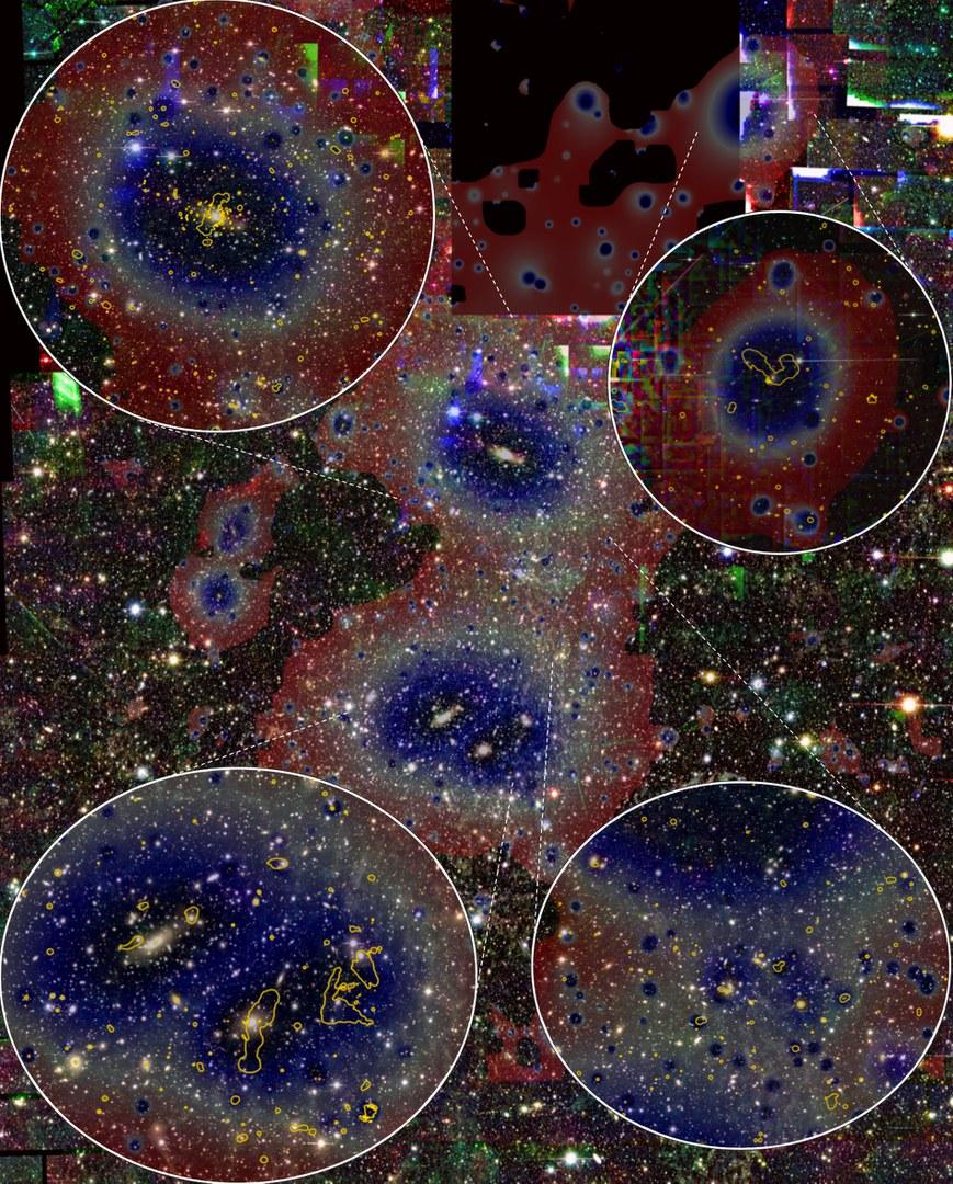 Optische Aufnahme des Abell 3391/95-Systems,