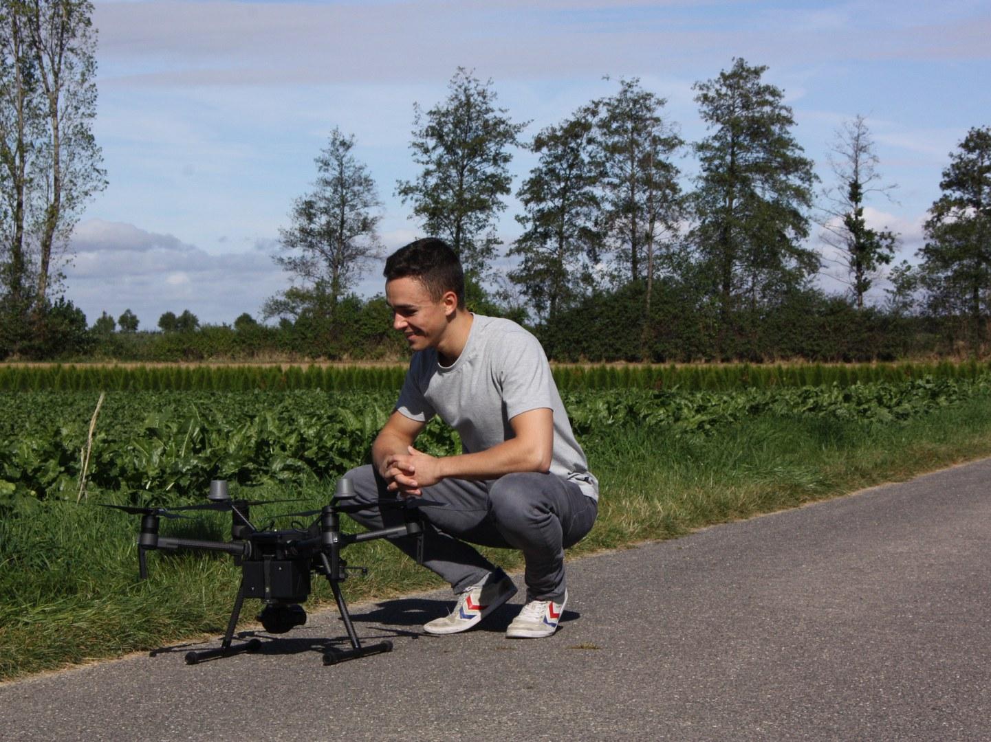Mit der Drohne ins Feld:
