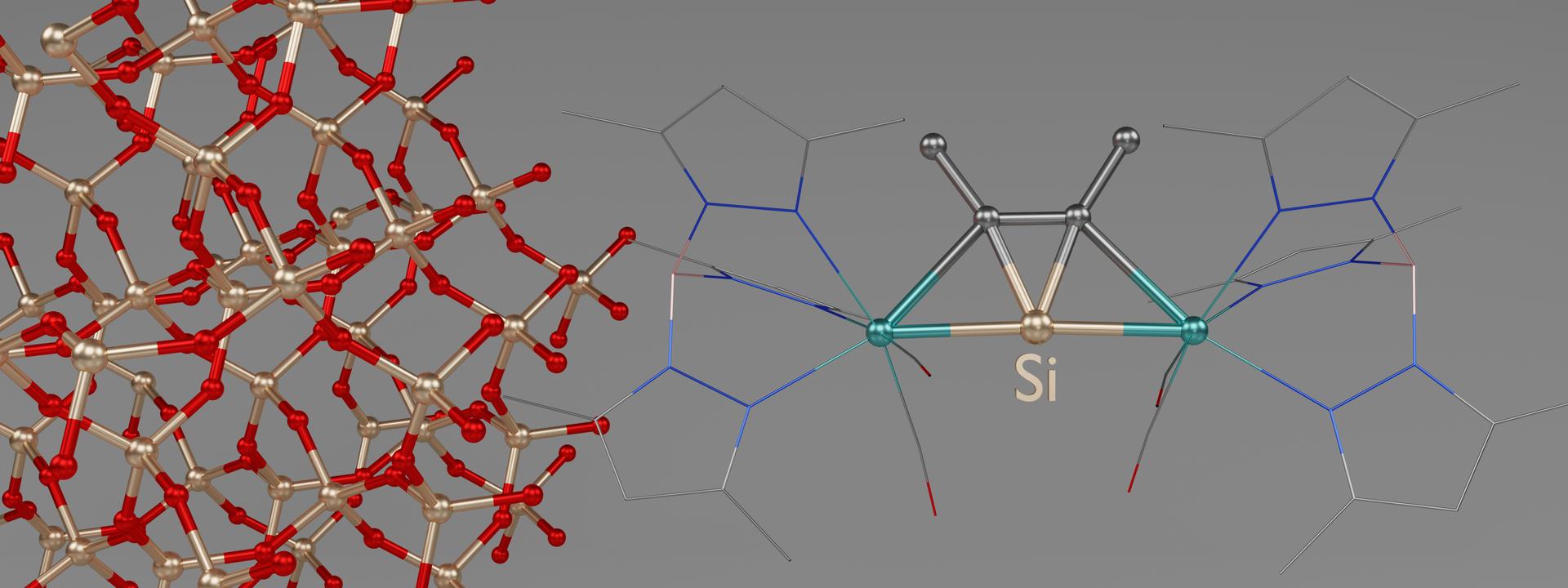 3D-Darstellung eines der neuen Moleküle.