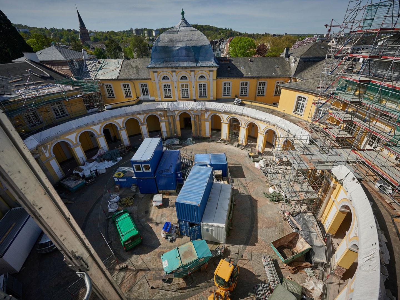 Ein Blick in den Innenhof des Poppelsdorfer Schlosses.