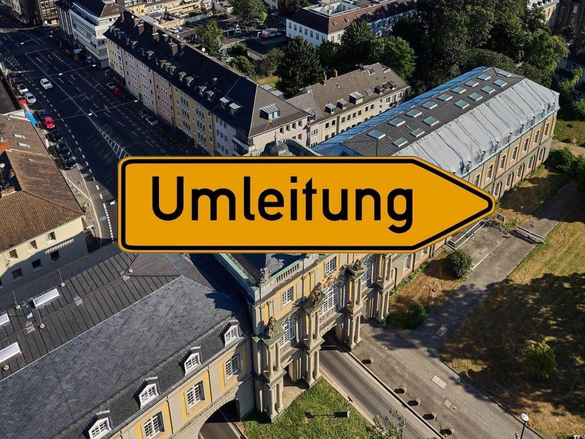 Sperrung auf der Adenauerallee