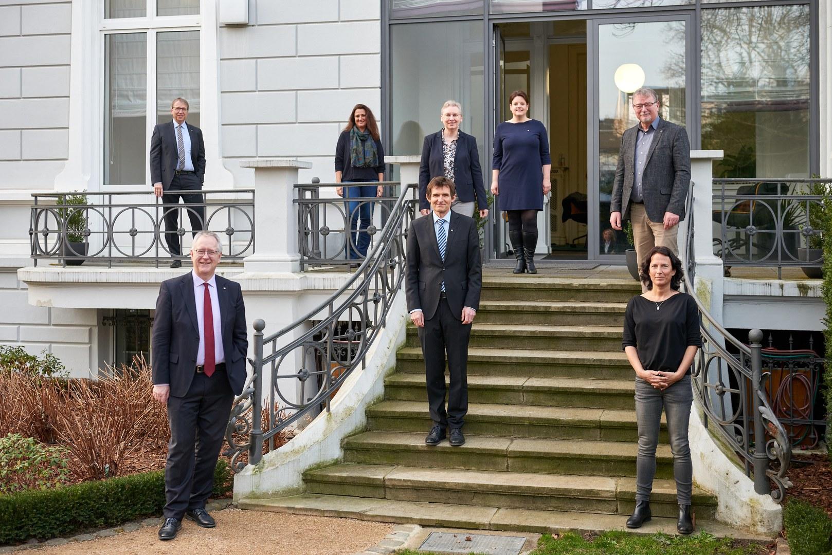 Die neuen Mitglieder des Rektorats