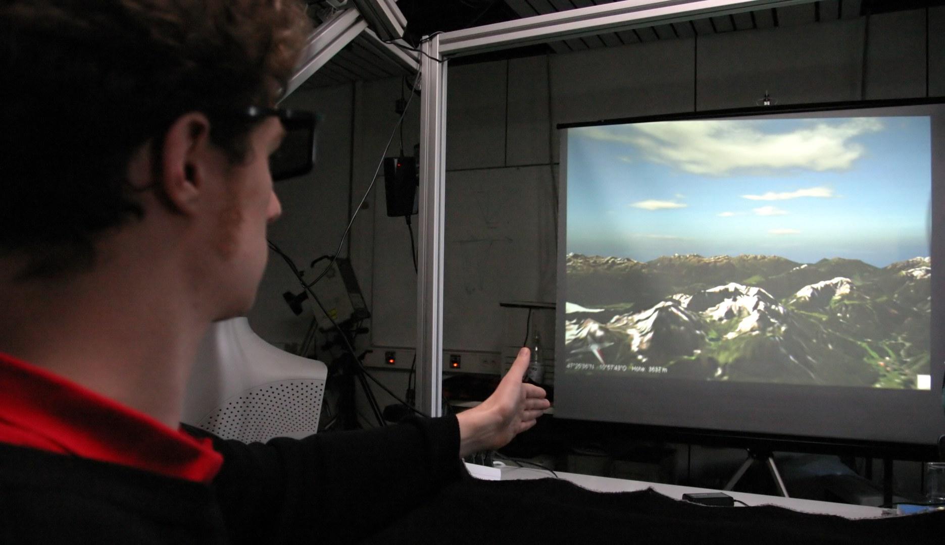 Bild Flugzeugsteuerung per Fingerzeig