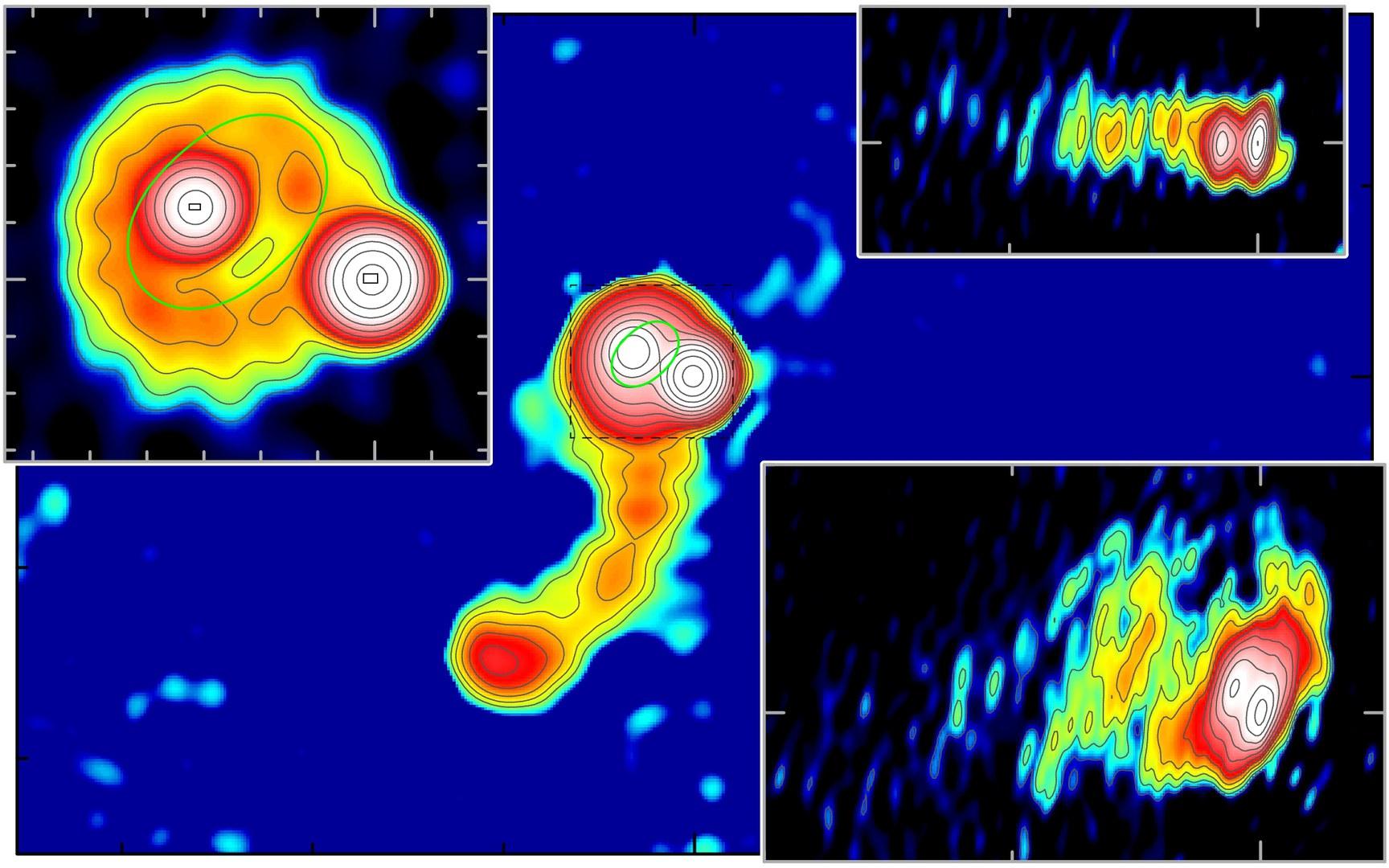 Bild Galaxien aus Milliarden Sternen verbiegen die Raumzeit