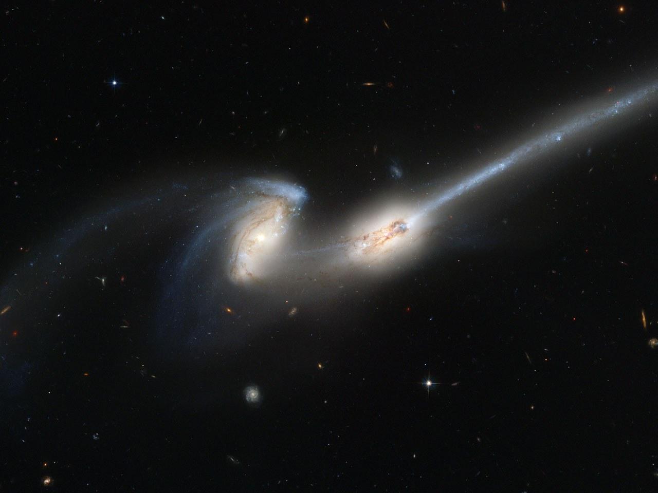 Galaxien auf Kollisionskurs: