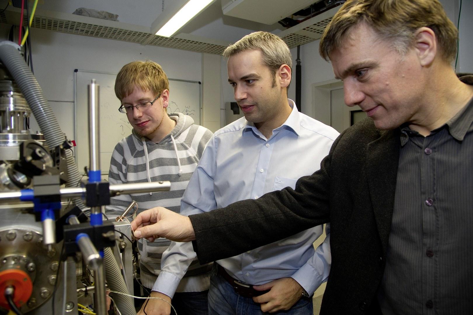 """Beobachteten den """"Klein-Tunneleffekt"""" im Labor:"""