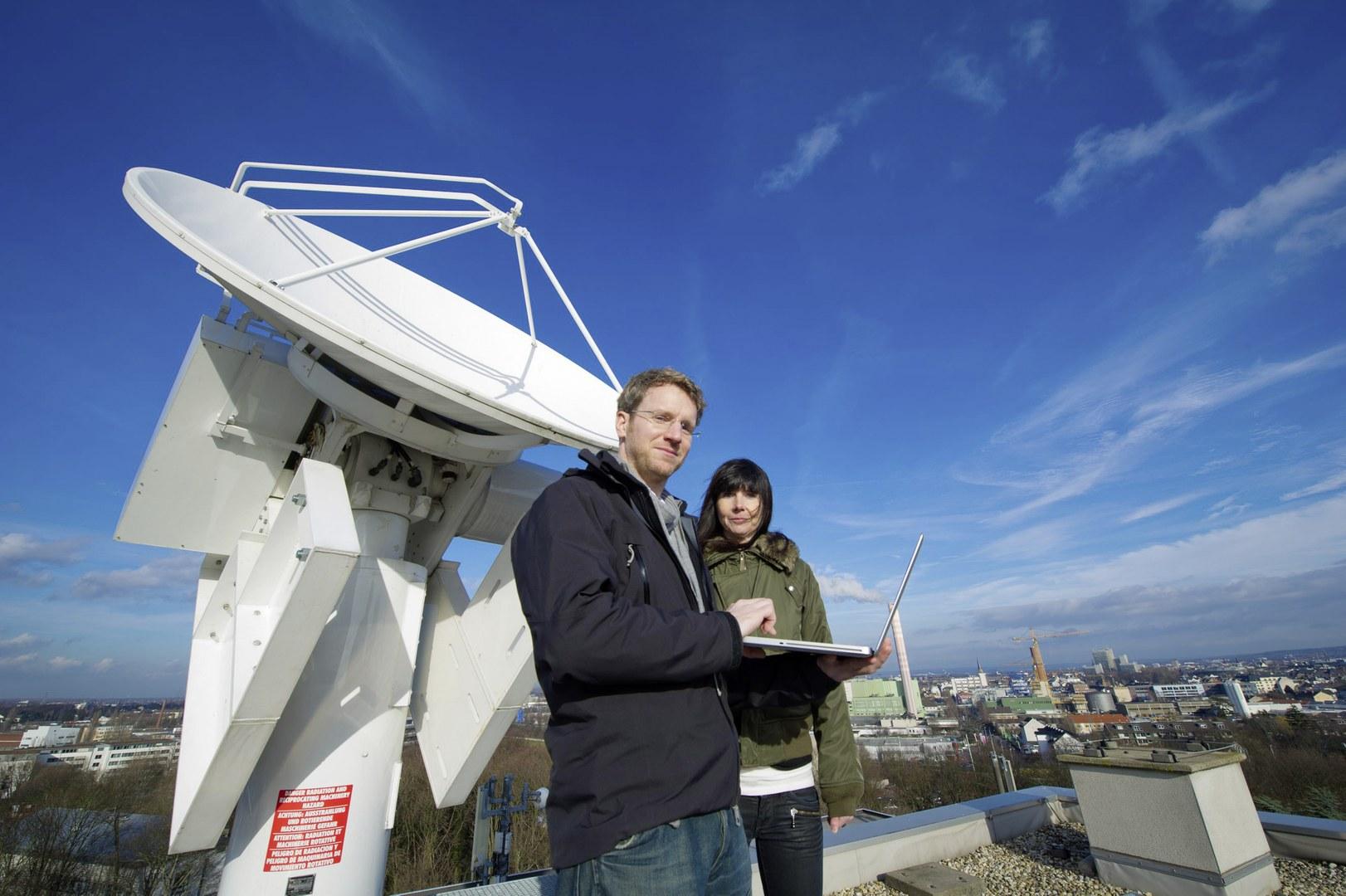 Am Regenradar über den Dächern von Bonn: