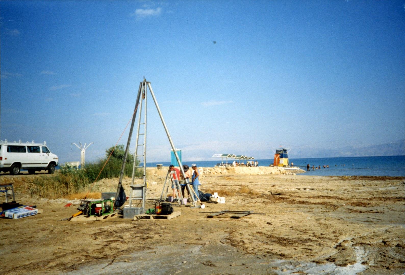 Bohrung am Westufer des Toten Meers: