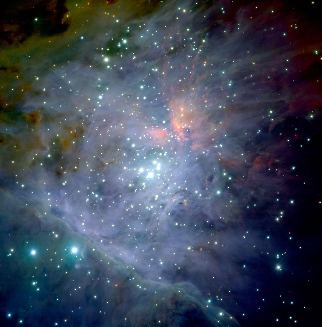 Der Orionnebelsternhaufen als Aufnahme des ESO-Observatoriums: