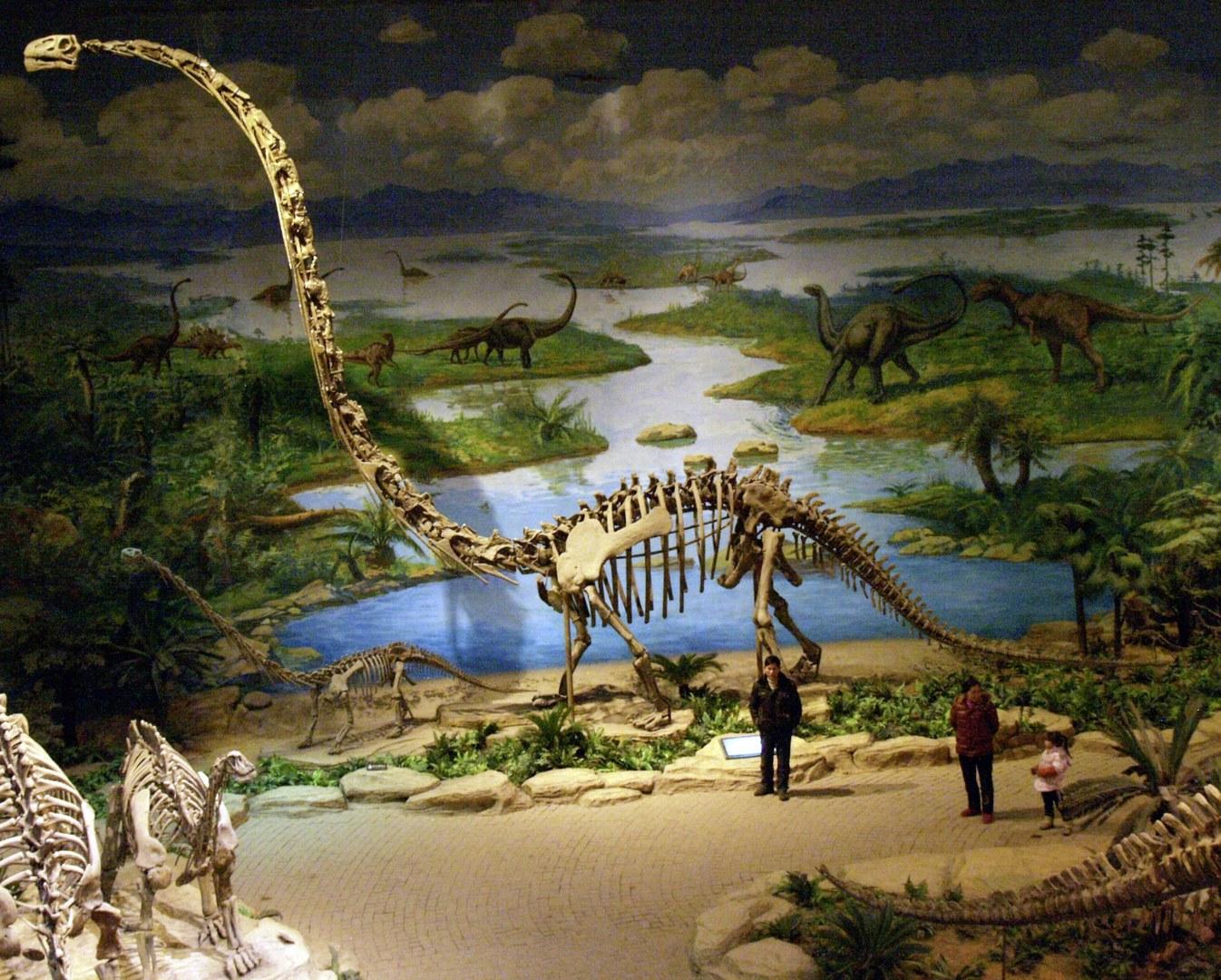 Mamenchisaurus mit extrem langem Hals
