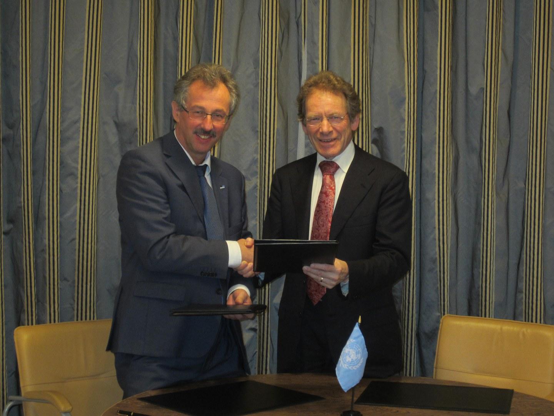 Die Rektoren der kooperierenden Universitäten am UN-Standort Bonn