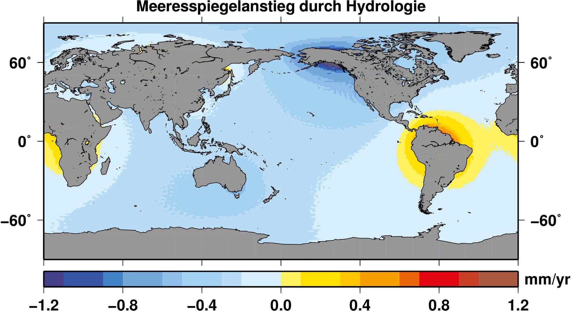 Wasserspeicherung der Kontinente bremst Meeresspiegelanstieg: