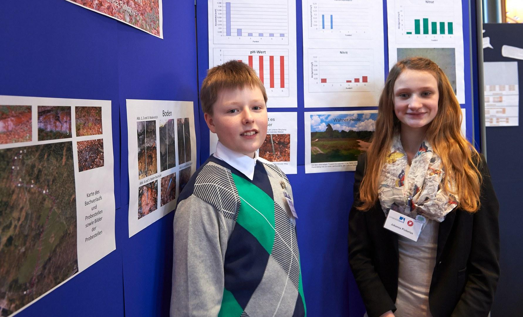 Sebastian Frentzen (14) und Johanna Pistorius (14)