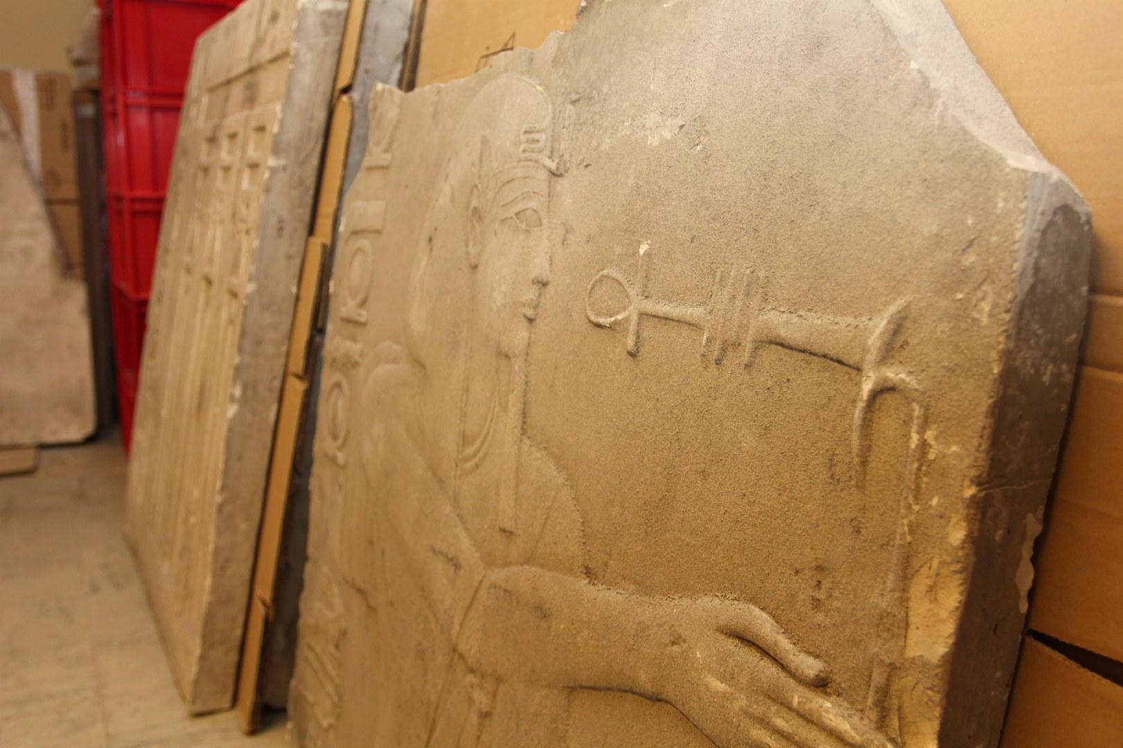Wieder entdeckter Gipsabguss des Ägyptischen Museums