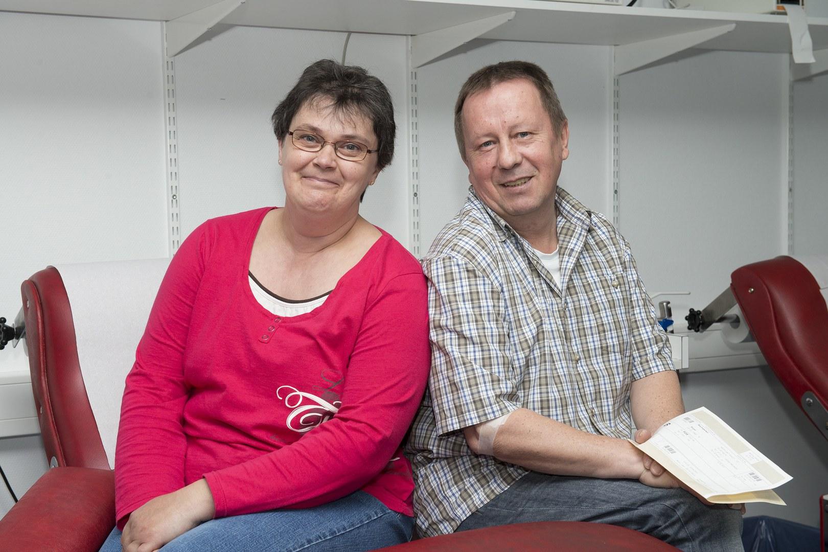Haben gemeinsam 80 Liter Blut gespendet: