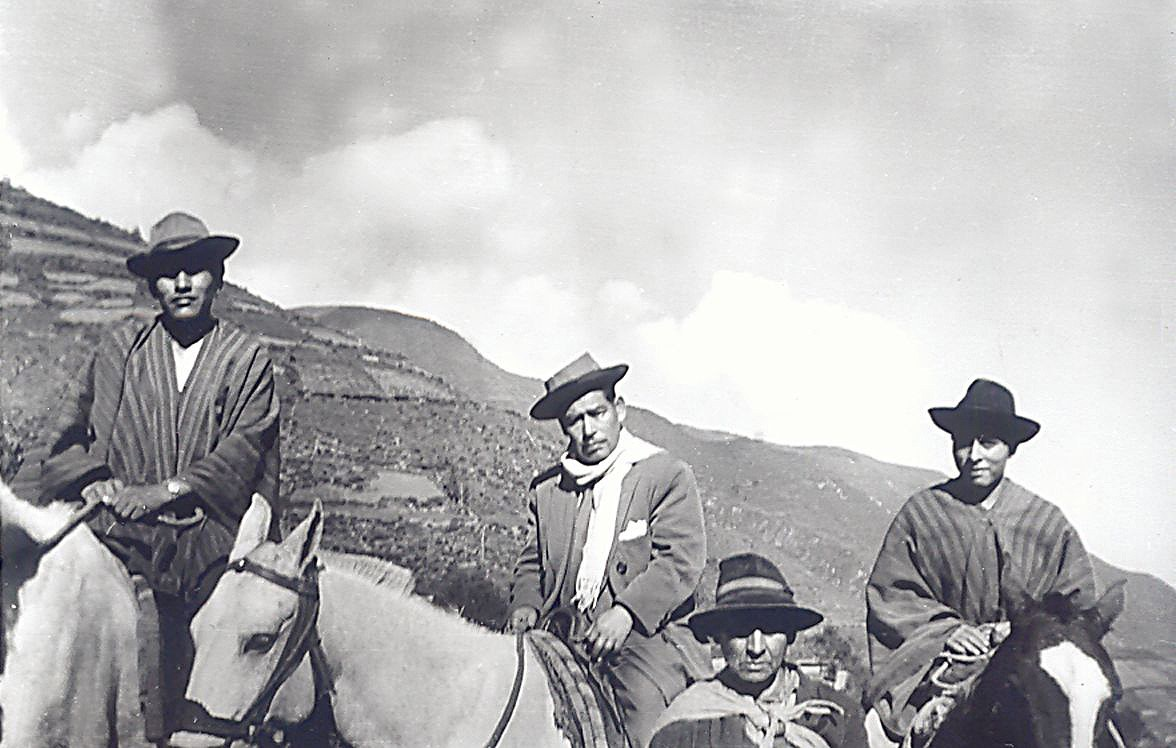 Vier Männer aus dem Chancay-Tal