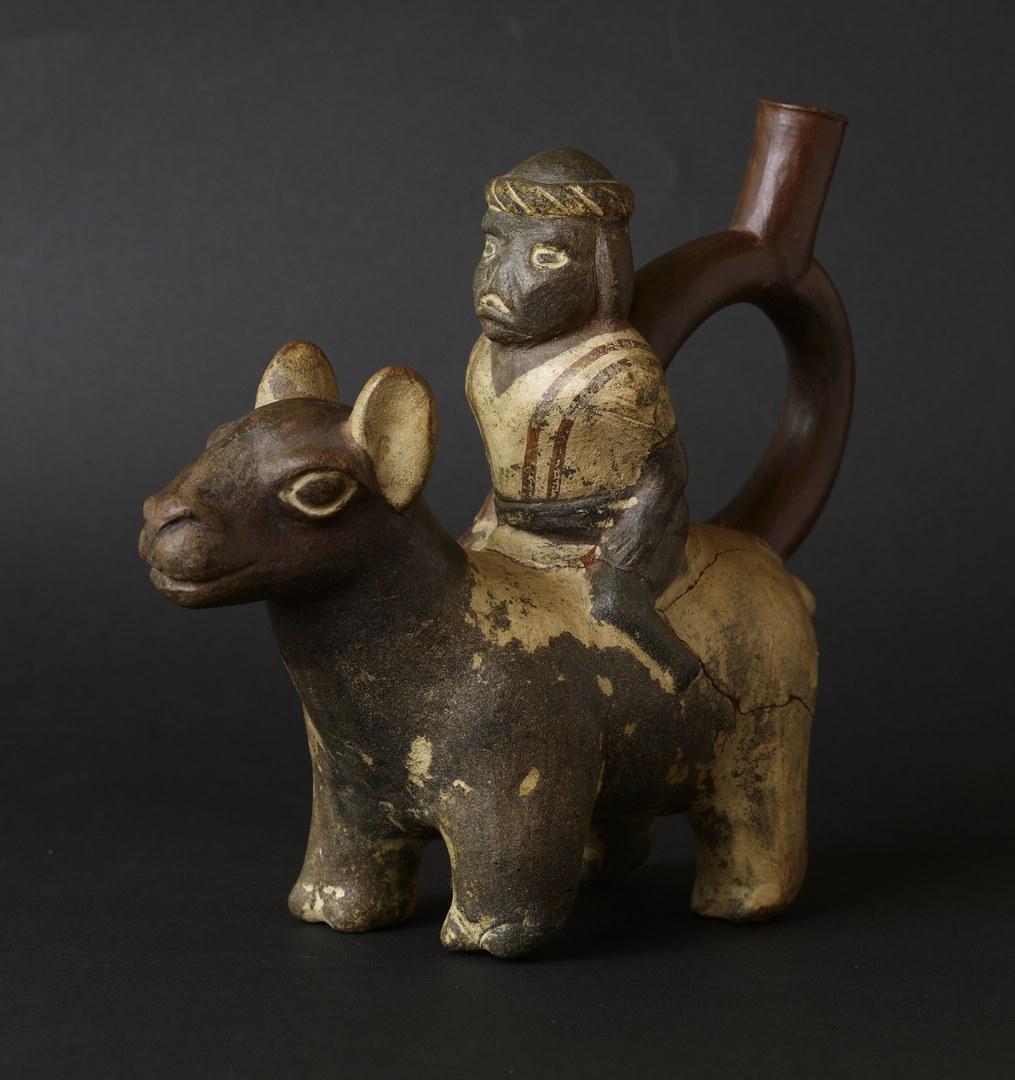 Reiter auf einem Lama