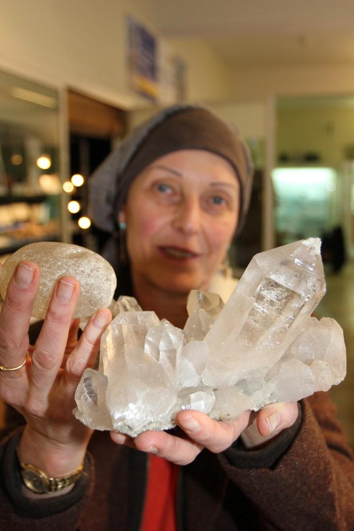 Bergkristall und Kieselstein