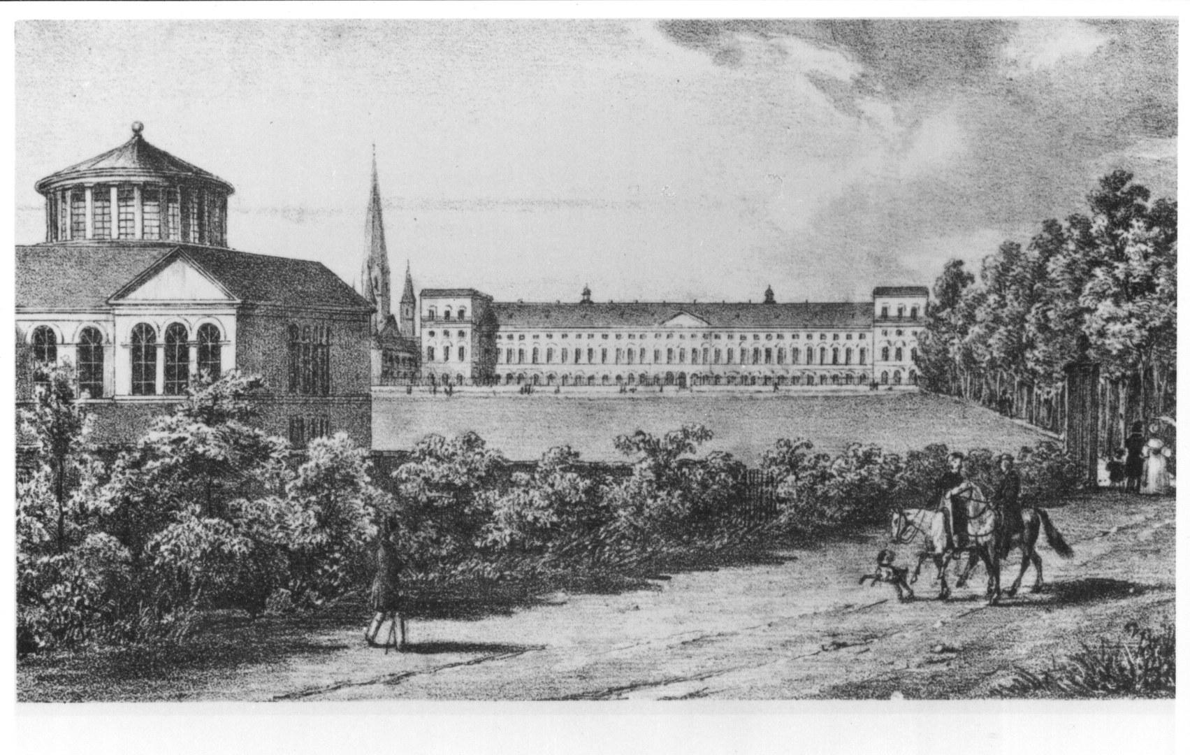 Der Hofgarten im Jahr 1837