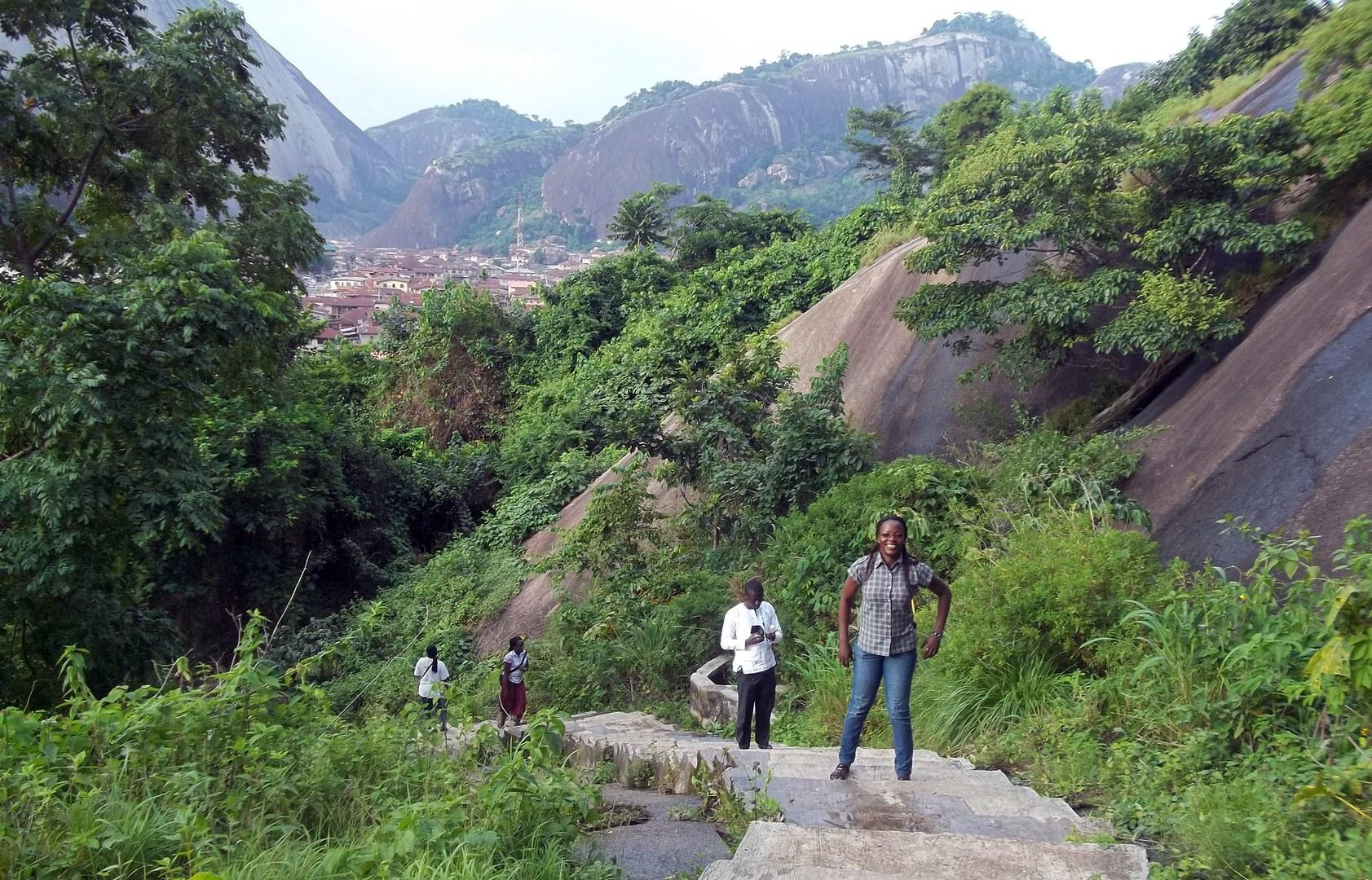 Studenten bei einer Feldexkursion