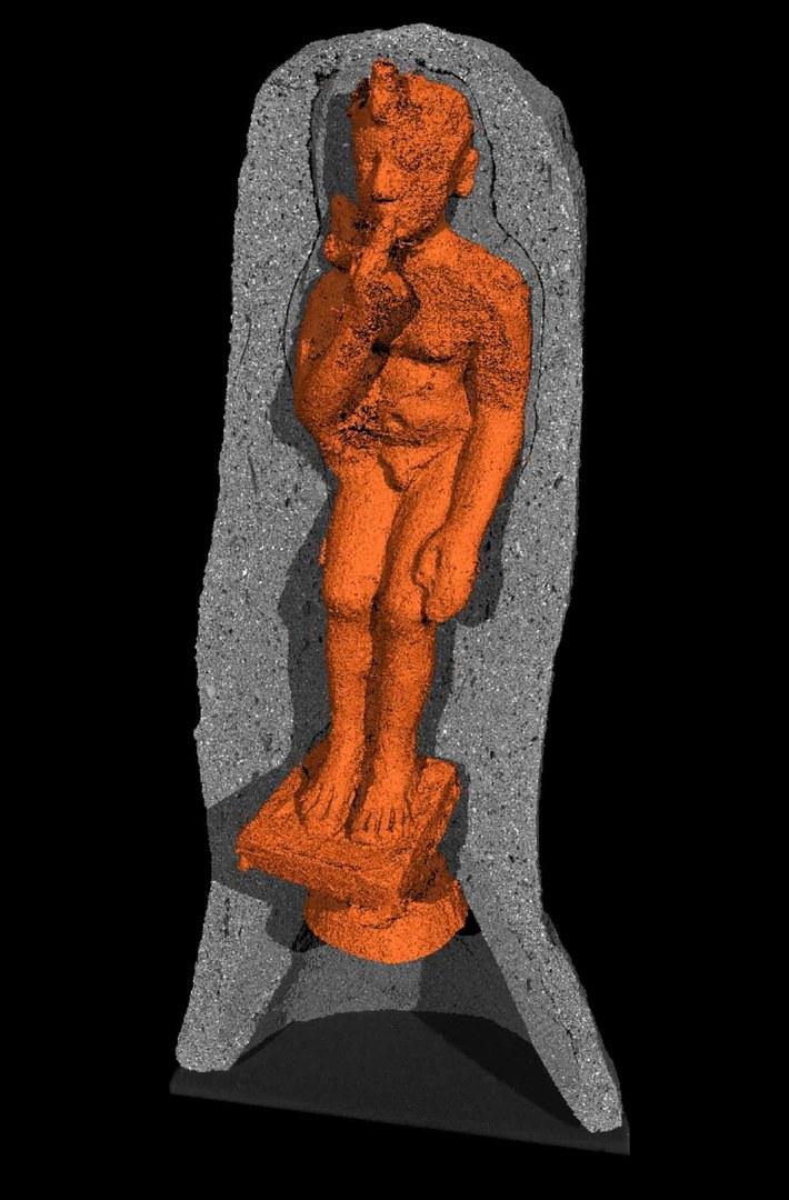 Rekonstruktion des Kindgottes Harpokrates