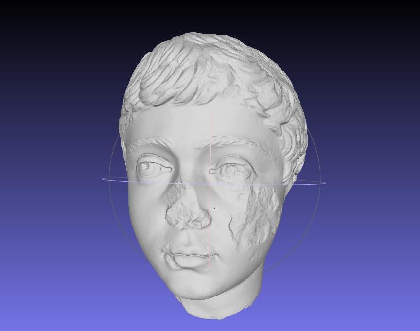 Antike Plastik im 3D-Scan