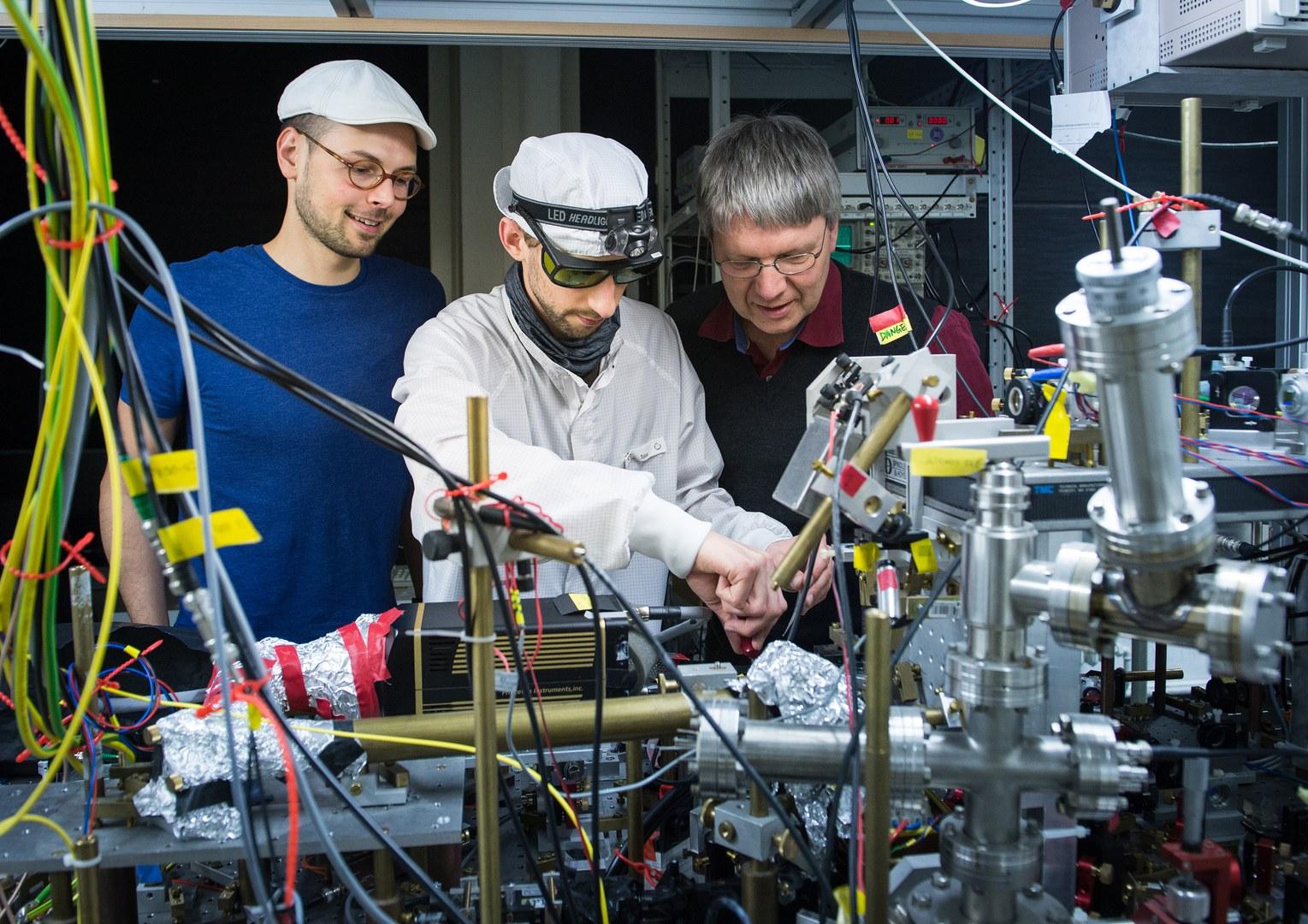 Die Messapparatur im Labor: