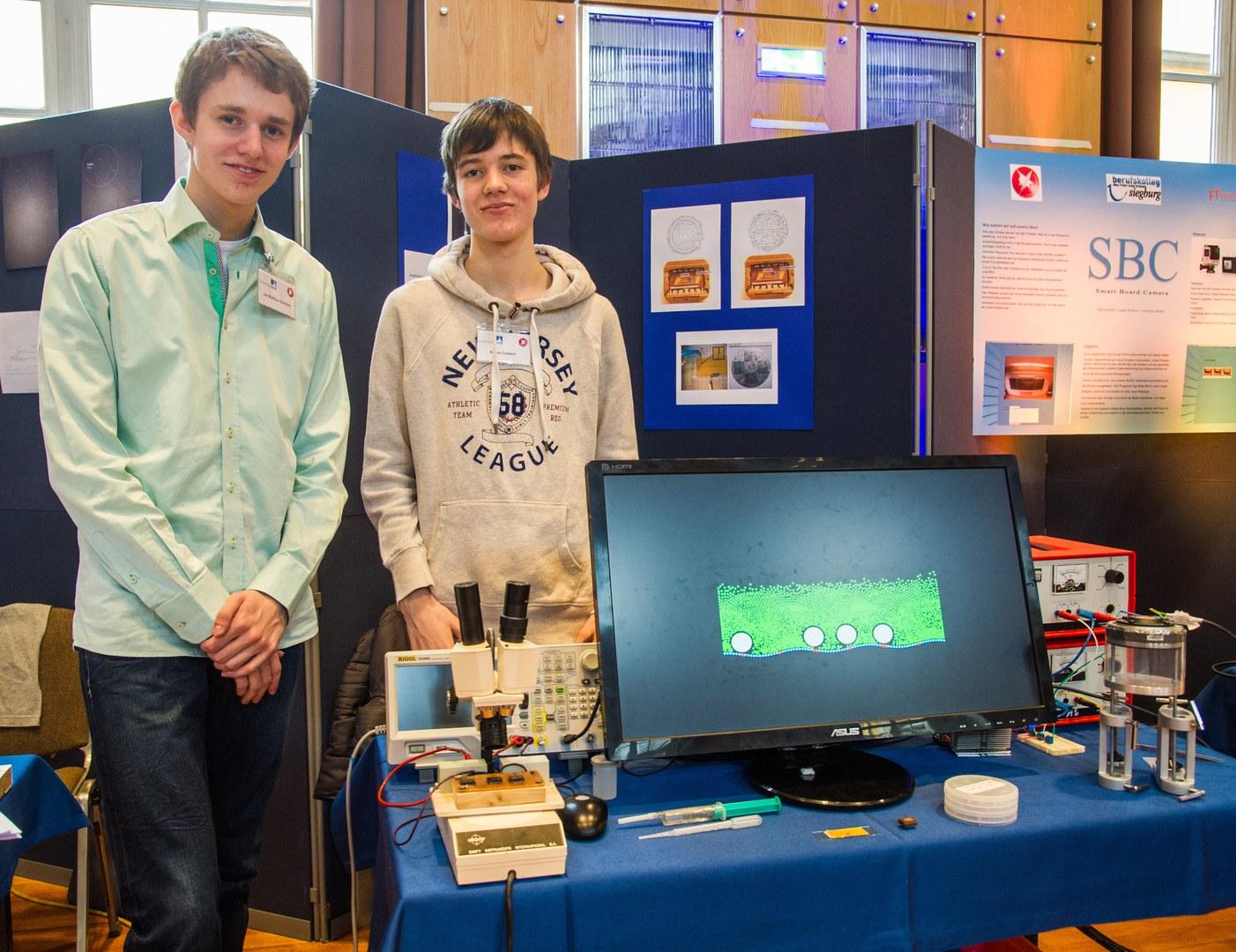 Jan Matthias Schäfers (16) und Adrian Lenkeit (15; von links):