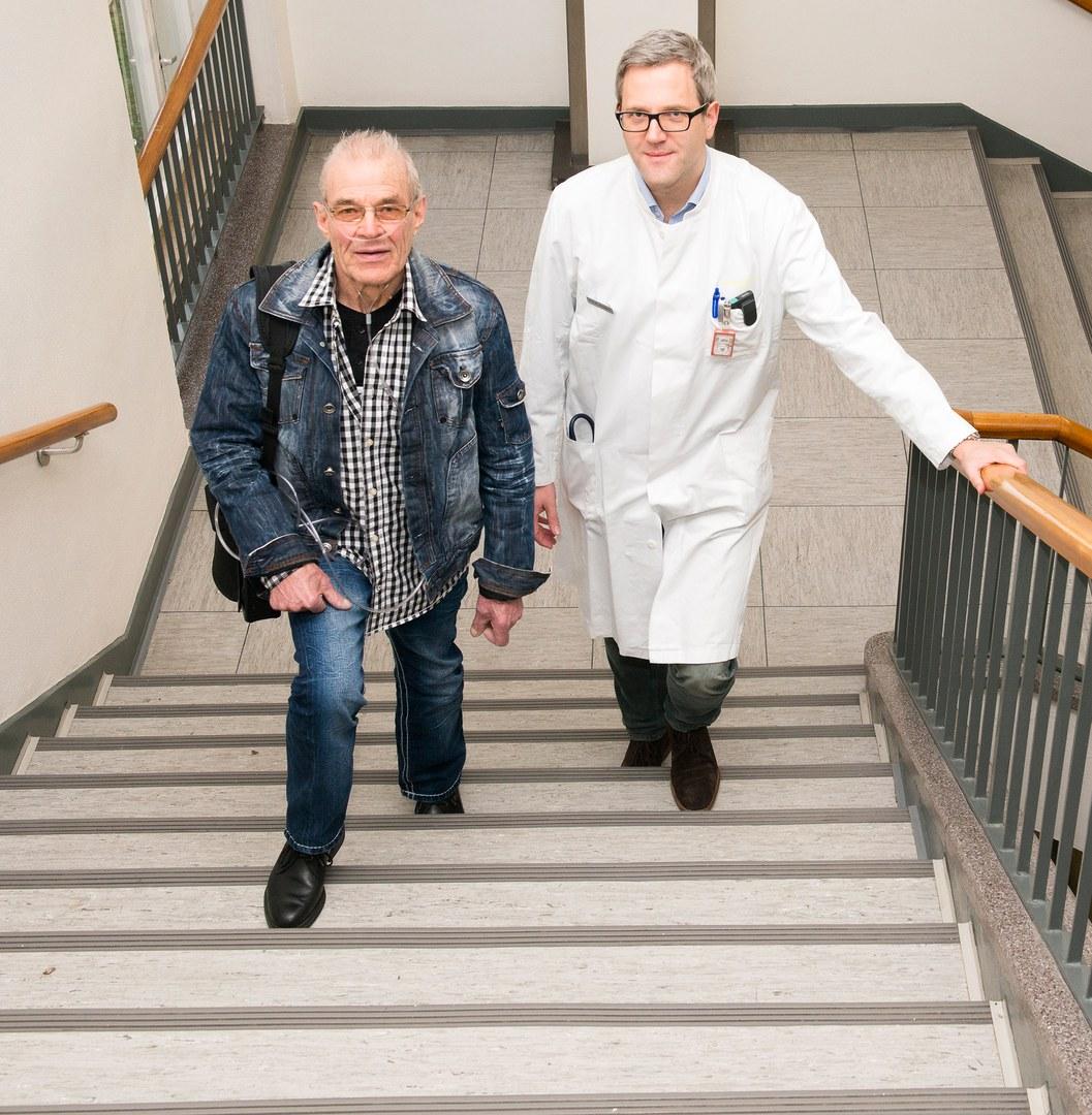 Endlich Treppensteigen ohne Atemnot: