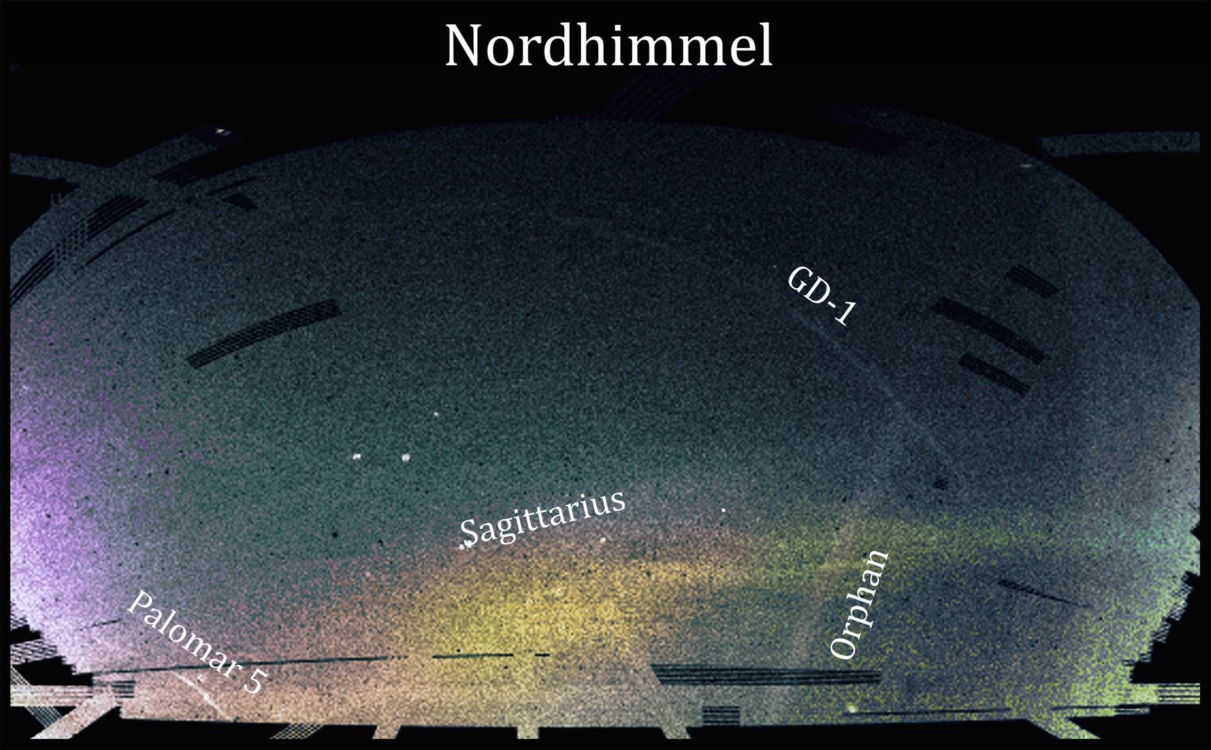 Eine Karte des nördlichen Sternenhimmels