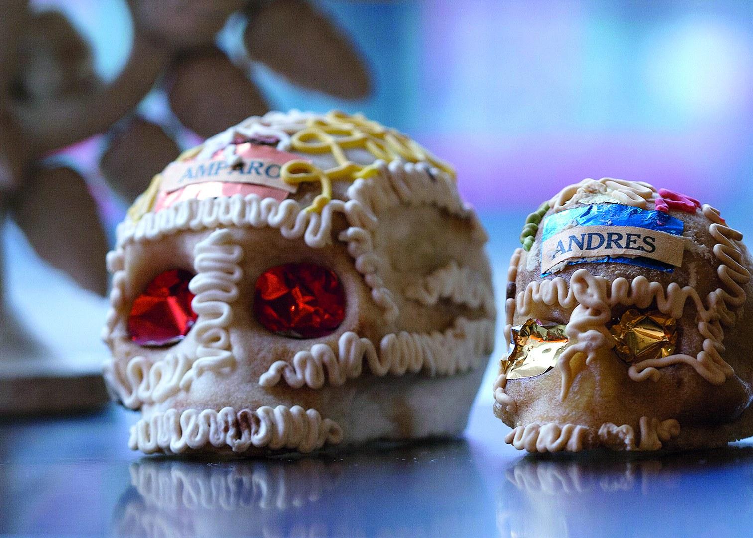 Totenschädel aus Zuckerguss.