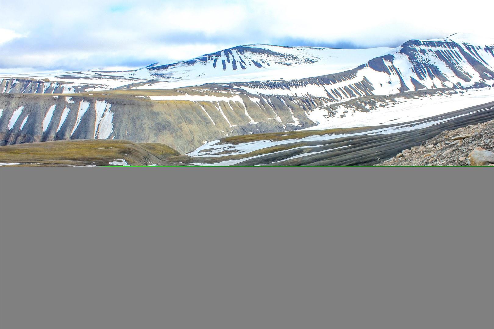Blick ins Longyearbyen-Tal auf Spitzbergen