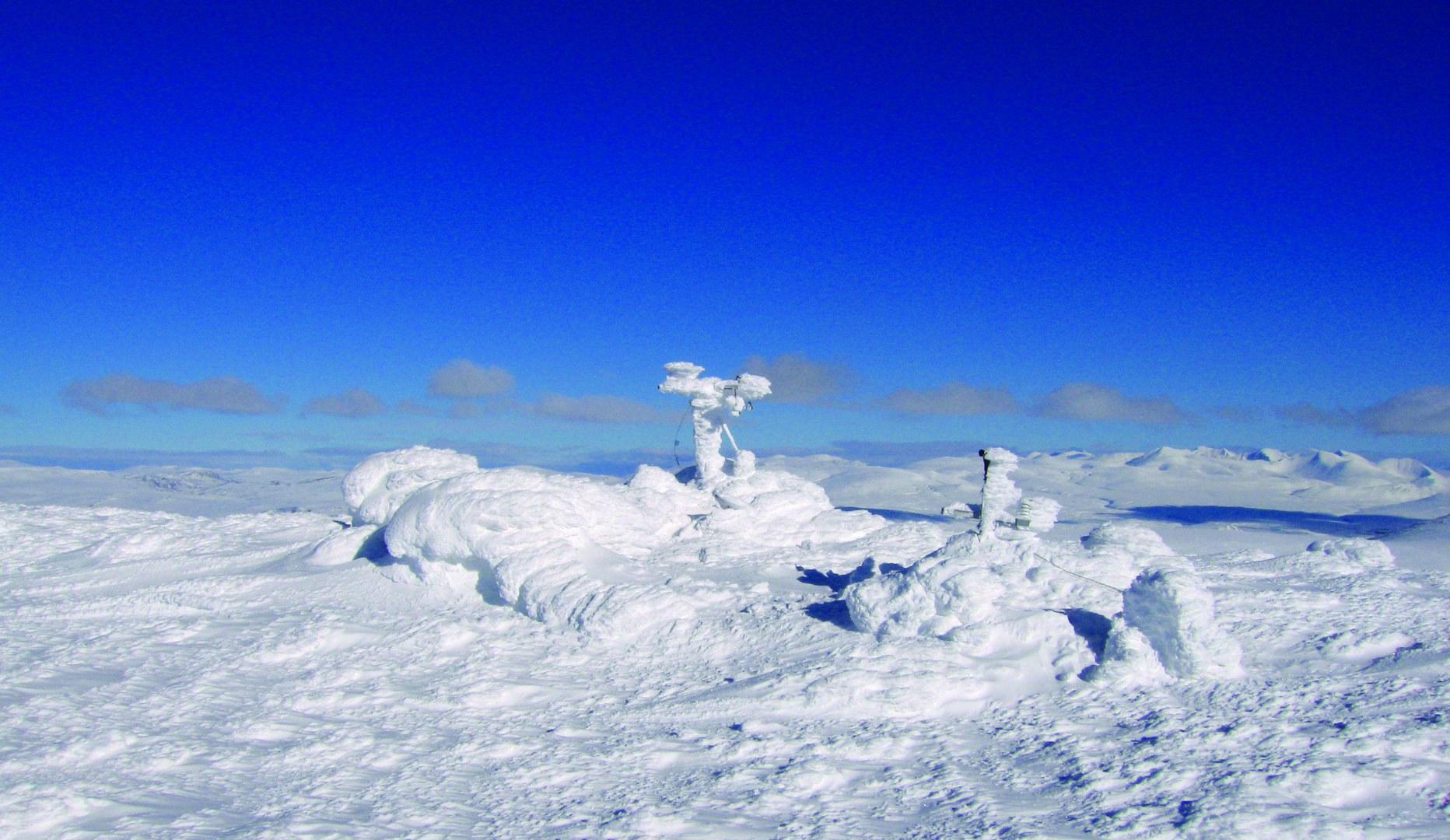 Klimastation im Eis