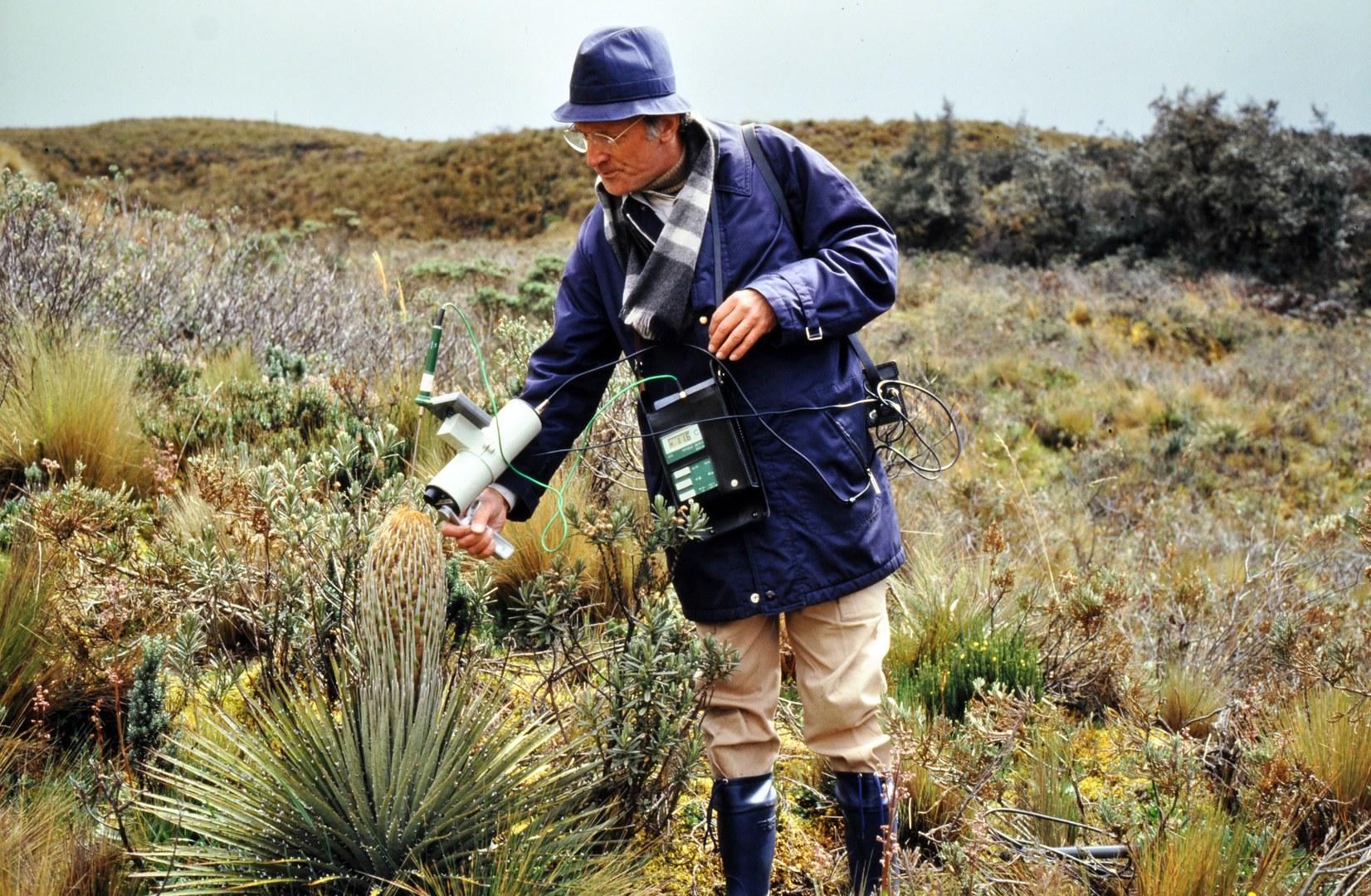 Wilhelm Lauer am Paramo de Papallacta, Ecuador, 4200 Meter üdM
