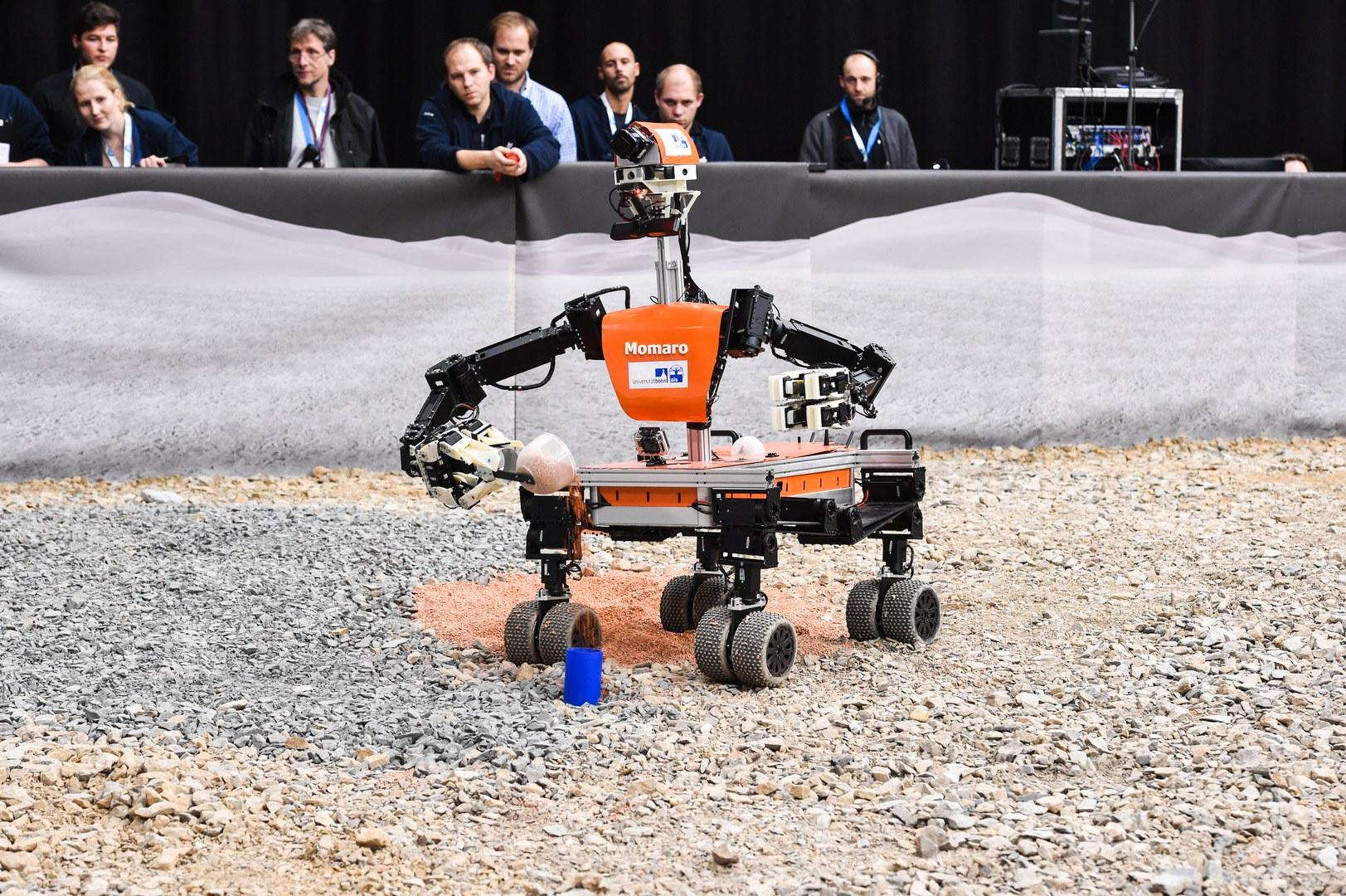 Beim DLR SpaceBot Camp