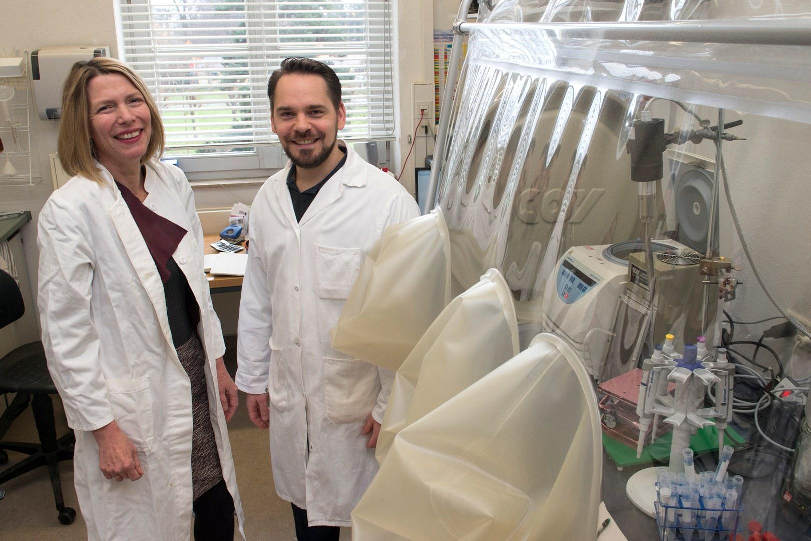 Privatdozentin Dr. Christiane Dahl und Dr. Fabian Grein