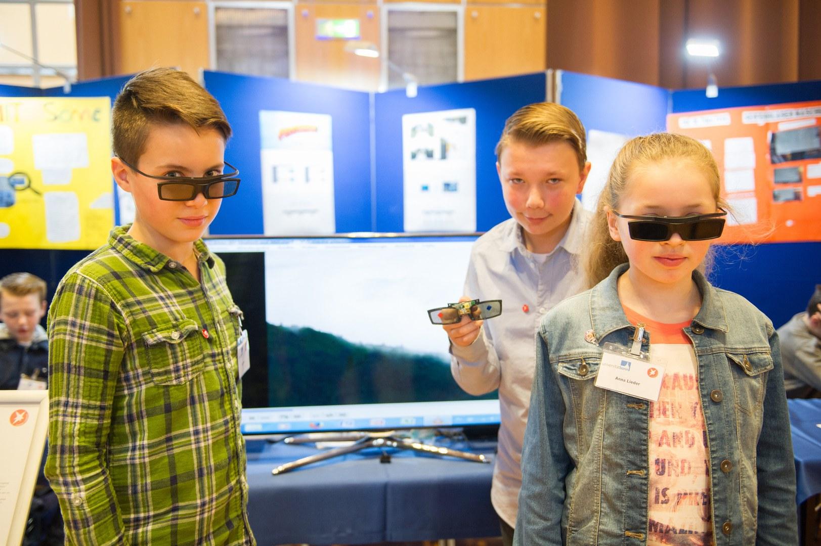 Leo Lenz (11), Elias Günthner (12) und Anna Lieder (12)