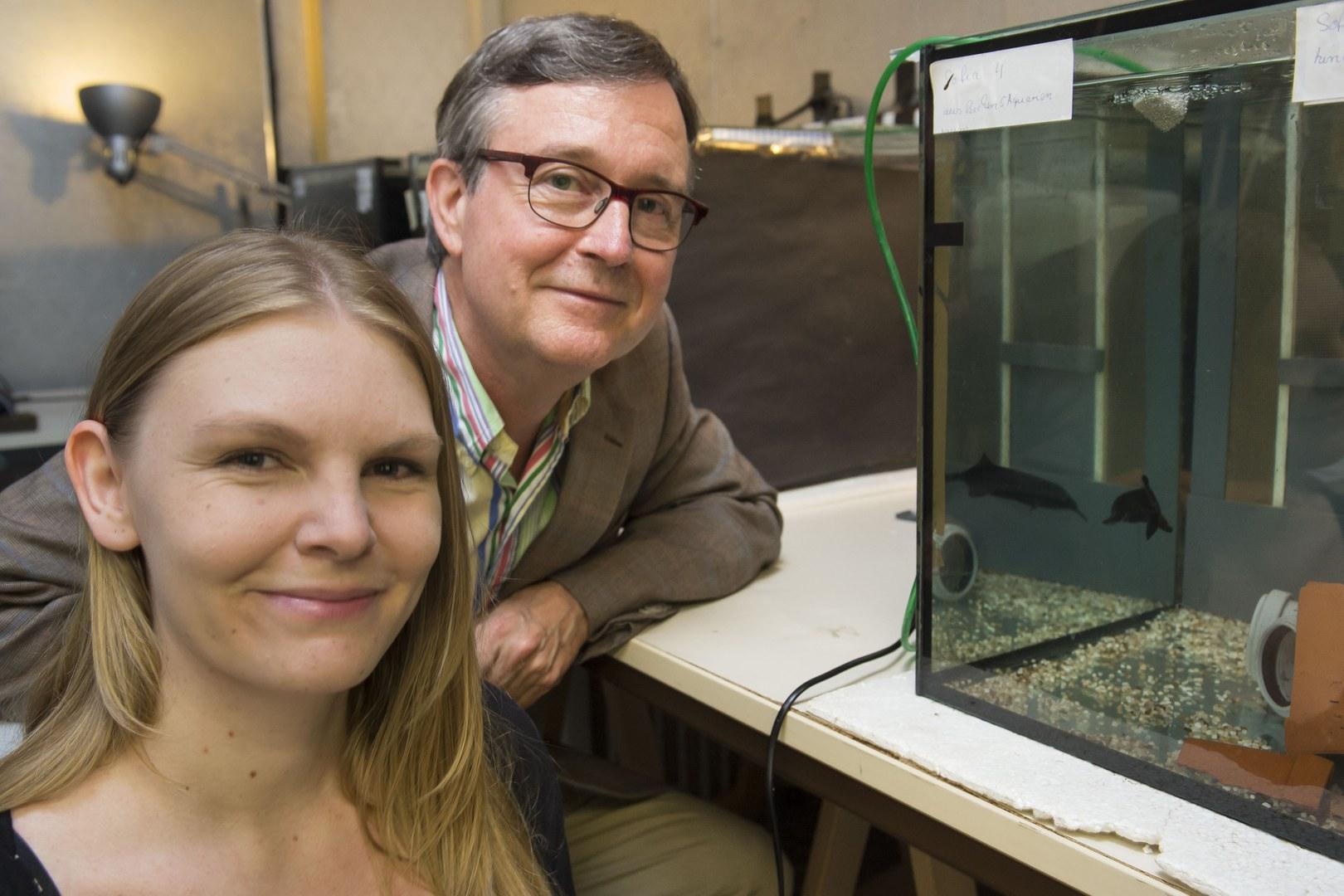 Prof. Dr. Gerhard von der Emde und Sarah Schumacher