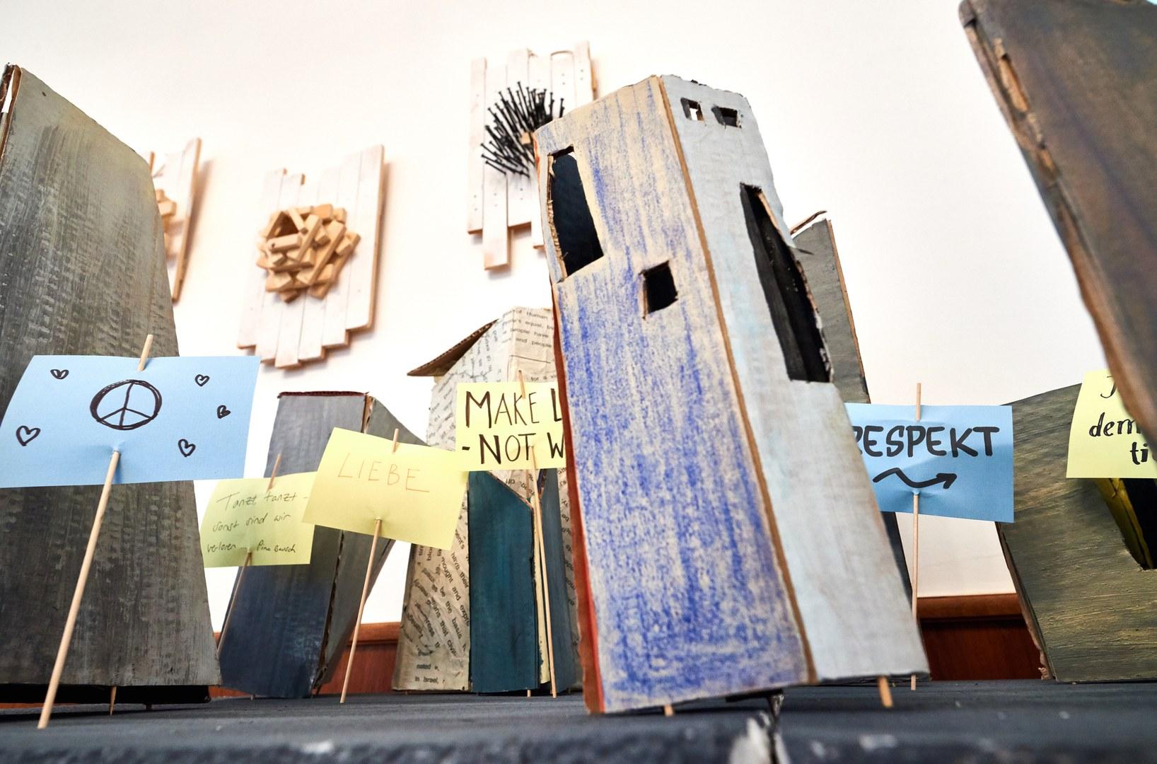 Der interaktive Demonstrationszug im Universitätsmuseum.