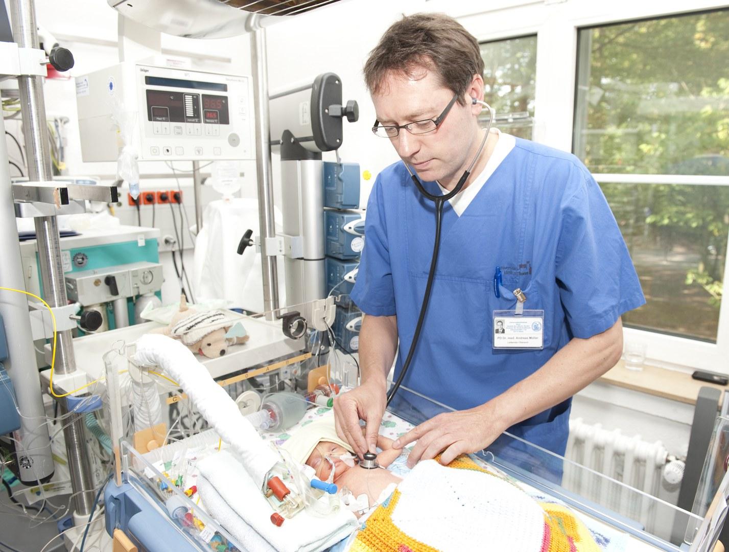 Auf der Intensiv-Station für Neugeborene: