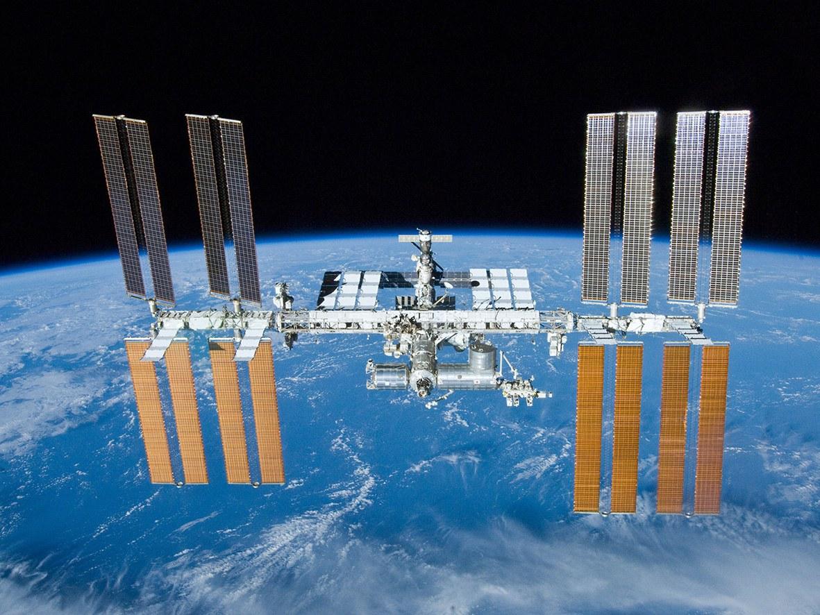 Die Internationale Raumstation (ISS):